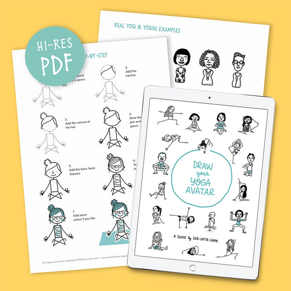 Draw your Yoga-Avatar – Printable PDF (English) - Eva-Lotta's Shop