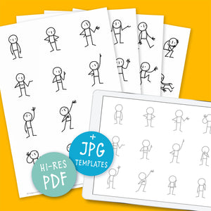 Little People Basics – Printable Templates – PDF - Eva-Lotta's Shop