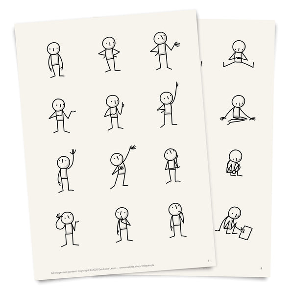 Little People Basics – Printable Templates – PDF (English) - Eva-Lotta's Shop