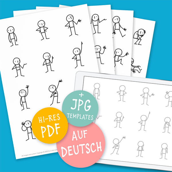 Little People Basics – Zeichenvorlage PDF (Deutsch) - Eva-Lotta's Shop