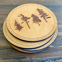 Load image into Gallery viewer, Get Outside Leather Coasters