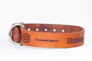 Instagram Handle Custom Collar