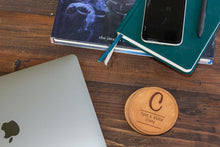 Load image into Gallery viewer, Custom Monogram Round Leather Coasters