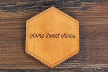 Load image into Gallery viewer, Home Sweet Home Leather Coasters