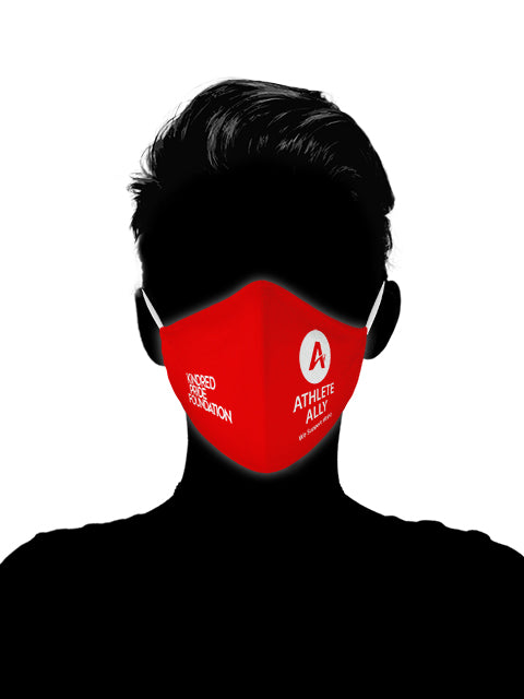 Athlete Ally - RED SHIRT PRIDE DAY MASKS