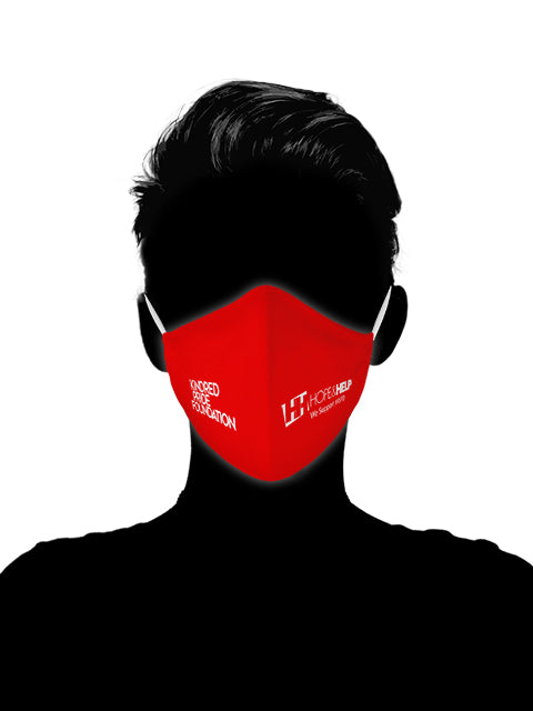 Hope & Help - RED SHIRT PRIDE DAY MASKS