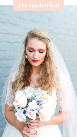 Cathedral Length Blush Wedding Veil