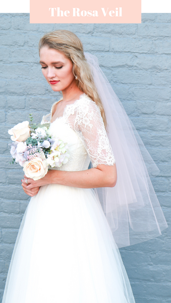 Fingertip Blush Veil