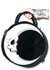 Round  With Dark Moon Skull Bag