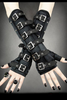 Gothic Gloves with Buckles