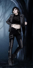 Gothic Lace Up Pencil Pants
