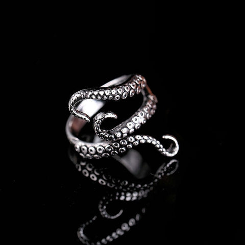 Gothic Octopus Ring