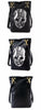 Black Leather Skull Bag