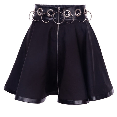 Gothic Black Iron Ring Skirt
