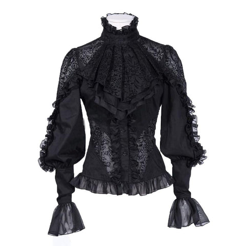 Lace With Ruffles Blouse