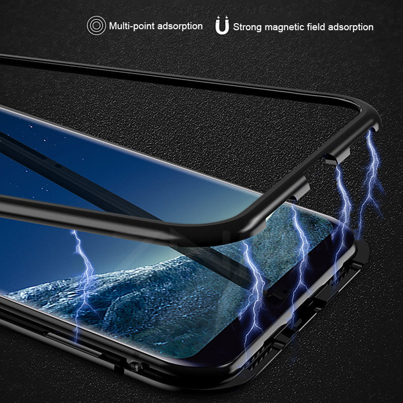 on sale 48846 1d681 Magnetic Absorption Metal Case for Samsung s8 s9 Magnet Magnetic phone Case  for Samsung galaxy note 8 9 s7 edge s8 s9 plus