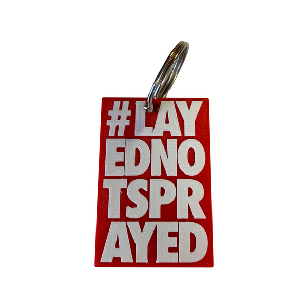 #LayedNotSprayed Keychain - Paint is Dead Merchandise
