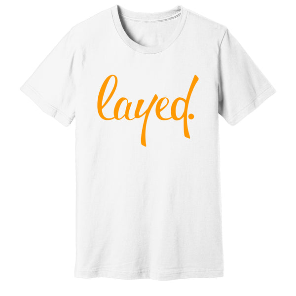 """Layed"" White T-Shirt - pidmerch"