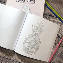 Load image into Gallery viewer, Good Vibes | Zentangle Coloring Book