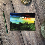 5x7 & 8x10 | Phases of the Moon Print