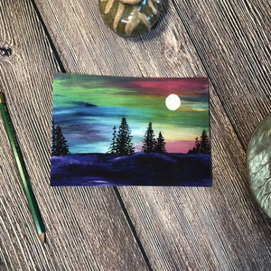 Forest at Night Print | 5x7 & 8x10