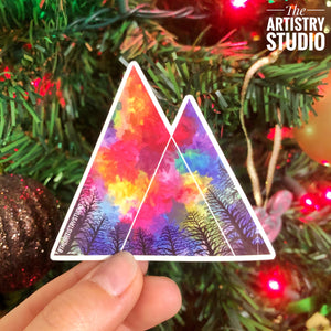 "Triangle Vinyl Sticker | 2.9"" x 2.5"""