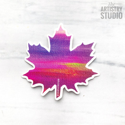 "Painted Leaf Sticker | 2.5"" x 2.4"""