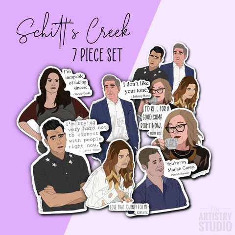 Schitt's Creek Sticker Set (7 stickers) | 2.8 x 3.3""