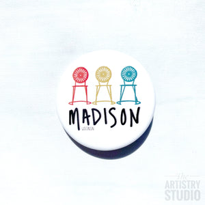 Madison Wisconsin Button | 1.5x1.5