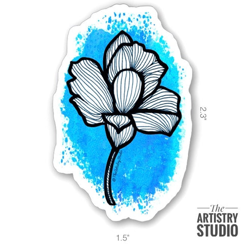 Blue Lily Sticker | 1.5x2.3