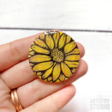 Sunflower Button | 1.5x1.5