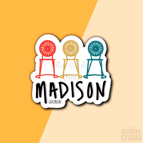Madison Wisconsin Magnet | 3x2.7