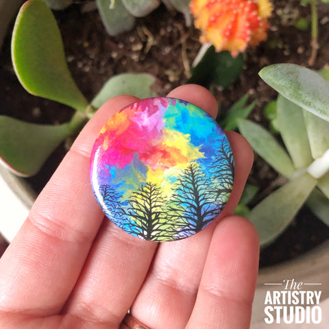 Forest Button | 1.5x1.5