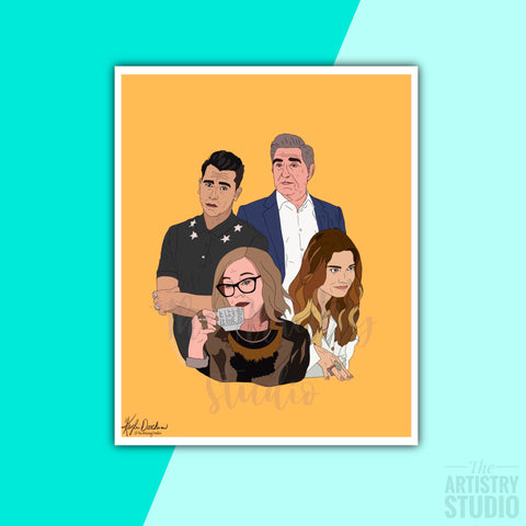 5x7 & 8x10 | The Rose Family (Schitt's Creek) Print