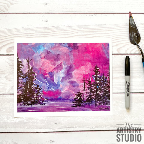8x10 | Purple Forest Print