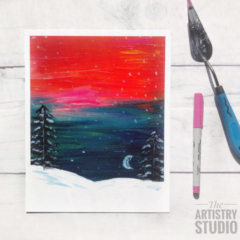 8x10 | Winter Sunset Print