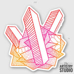 Crystal Sticker | 2.6x2.7