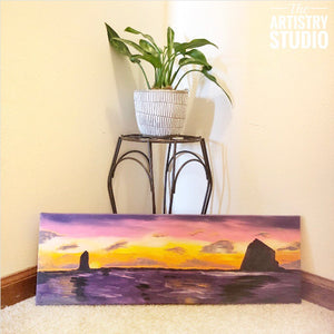 Oceanside | 8x24 Acrylic on Canvas