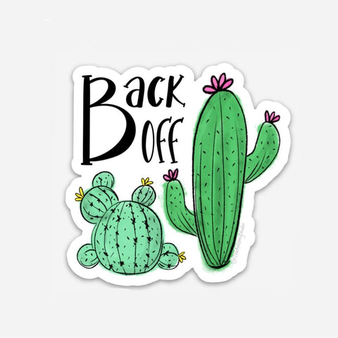Back Off Sticker | 3x3
