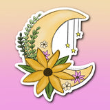 *Pre-order* Floral Moon Sticker | 2.3x2.7