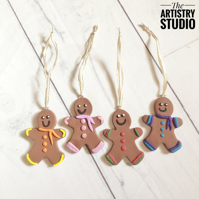 Gingerbread Clay Ornaments