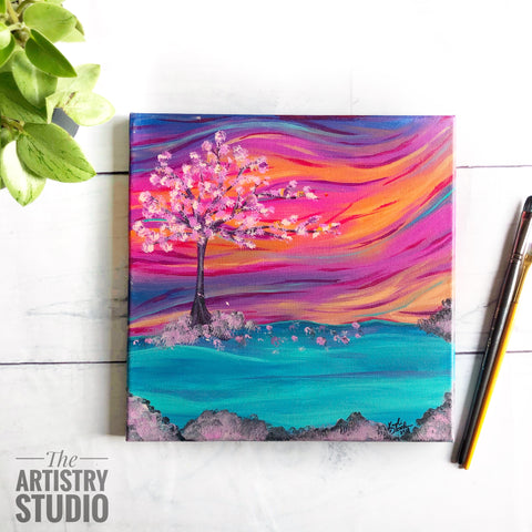 Cherry Blossom Sunrise | 10x10