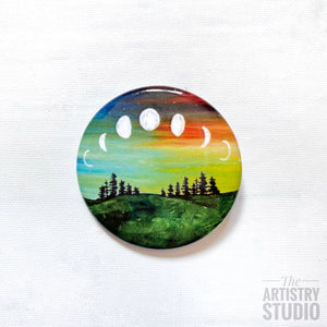 Moon Phase Button | 1.5x1.5