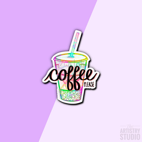 Coffee please Sticker | 2.2x2.8