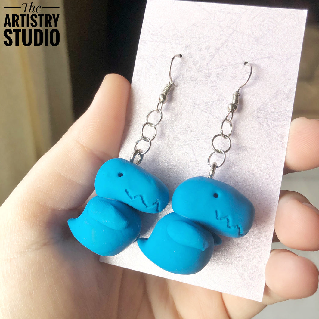 Dino Earrings (Made to Order)
