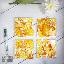 Load image into Gallery viewer, Alcohol Ink Coasters | Set of 4, Ceramic