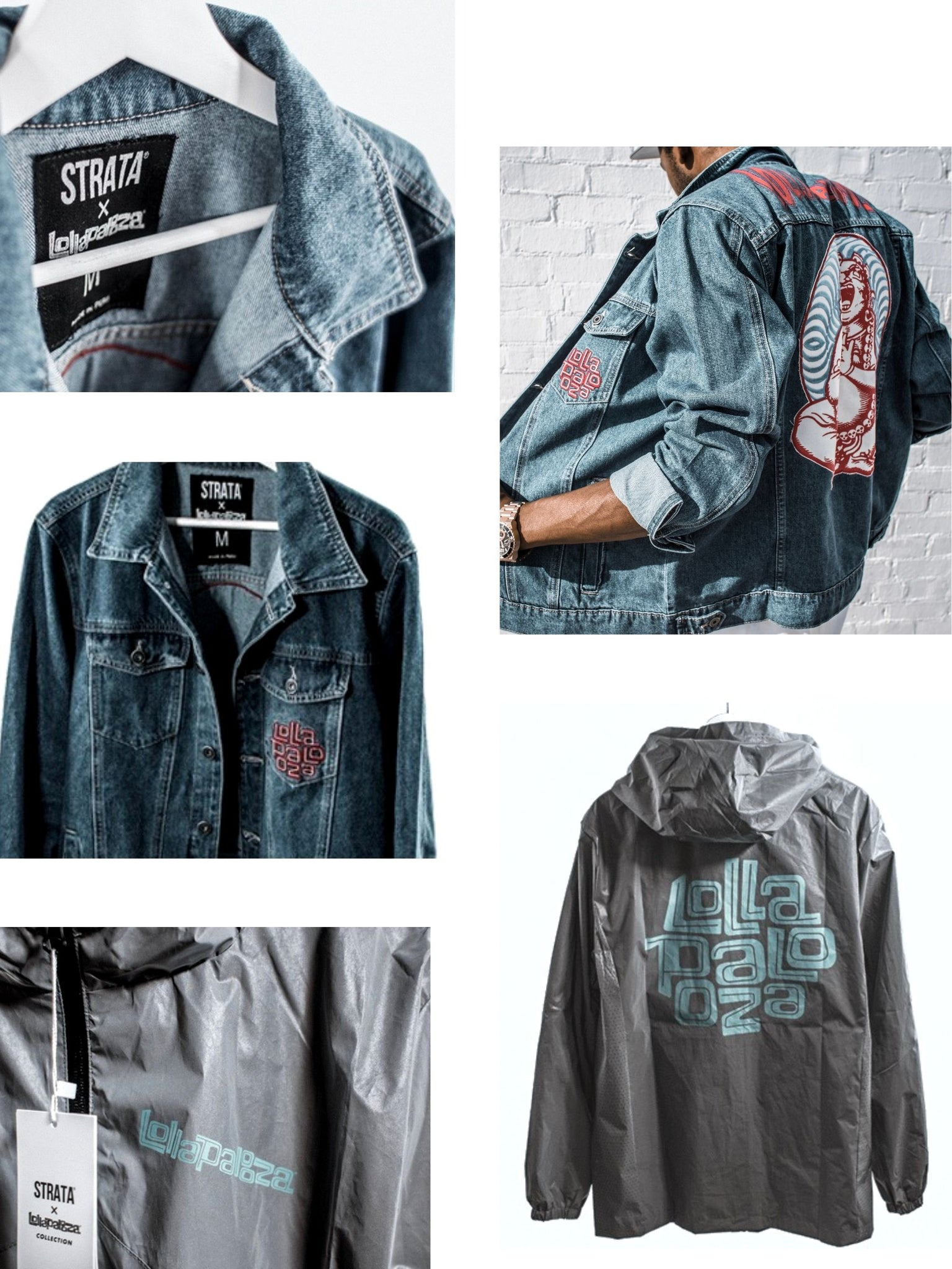 Lollapalooza x STRATA denim jacket