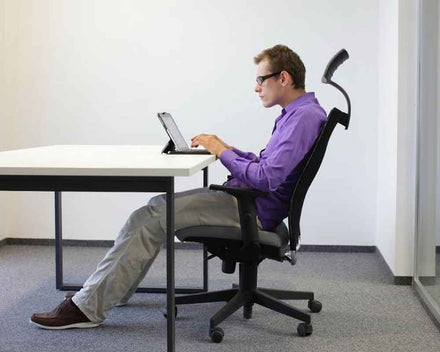 Improving Sitting Posture. Methods to sit correctly for better posture.