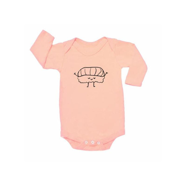 Nigiri Graphic Onesie LS Blush