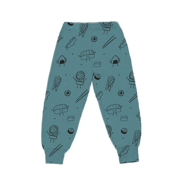 Sushi Print Bubble Pants - Dark Turquoise